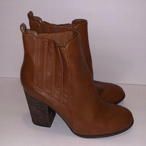 Call It Spring Brown Ankle Booties Size 11